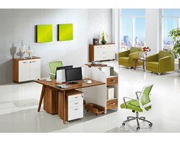 Nowoczesne biurko 2-stanowiskowe EVOLUTIO B305-2