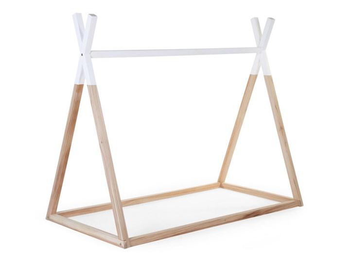 Childwood Rama łóżka Tipi 70x140 Cm Drewno Naturalne I Białe