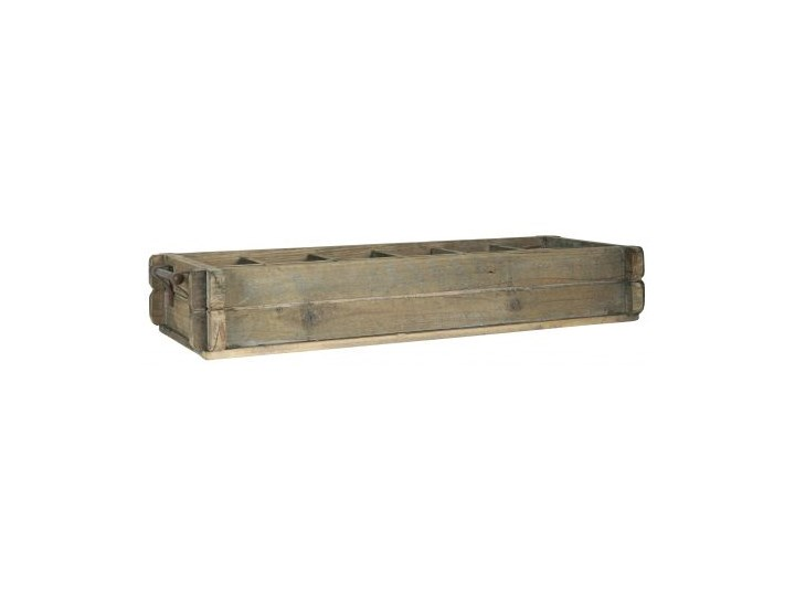 Pojemnik z metalowymi uchwytami drewniany