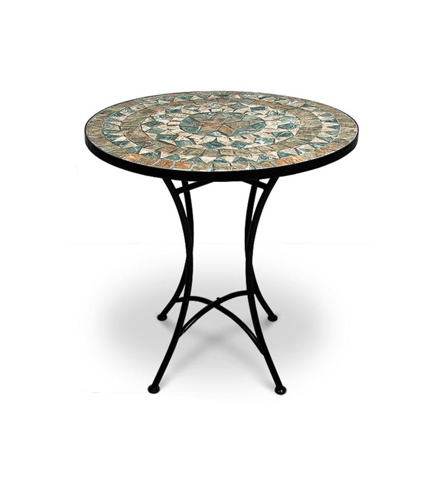 Metalowy Stół Malaga Z Mozaiką Ogrodowy Ogród