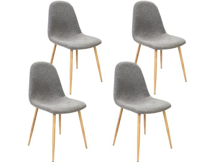 4 Krzesła Fotel Do Kuchni Jadalni Szare Krzesło