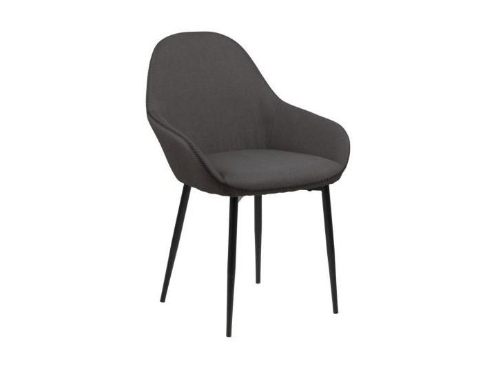 Krzesło Candis szare Wysokość 85 cm Tkanina Metal Szerokość 60 cm Głębokość 57 cm Styl nowoczesny