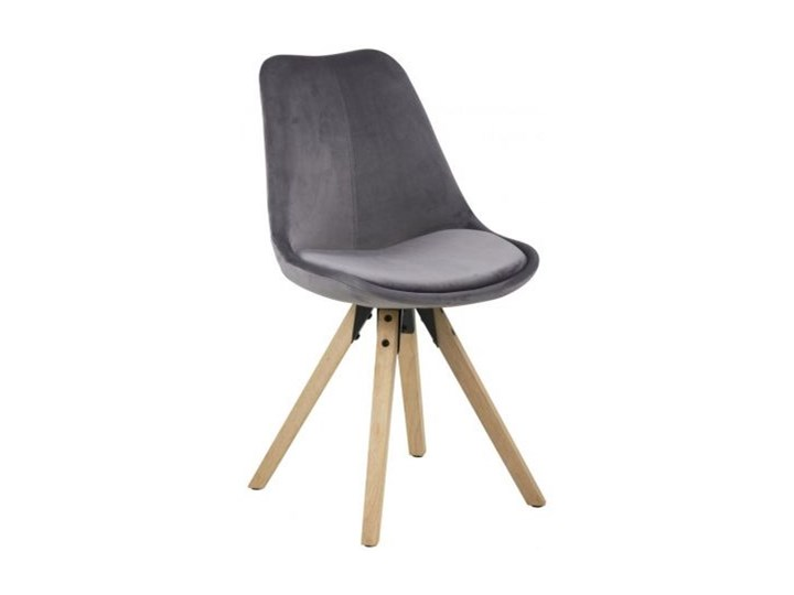 Krzesło Dima ciemnoszare Szerokość 31 cm Drewno Głębokość 55 cm Szerokość 48,5 cm Wysokość 85 cm Tkanina Styl klasyczny Wysokość 2 42 cm