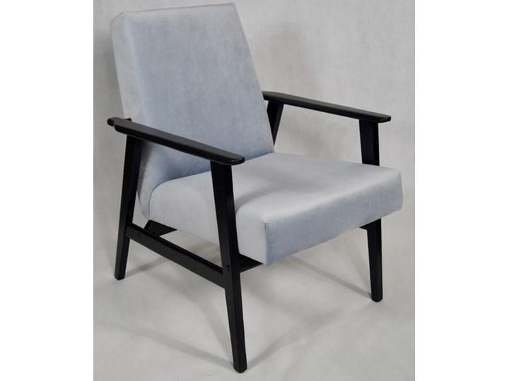 Fotel Klubowy Lata 70 Te Vintage Artdeco Tapicerka Błękitny Szary Pagani 15 Konstrukcja Grafit Stalowy Błękit Pagani 15