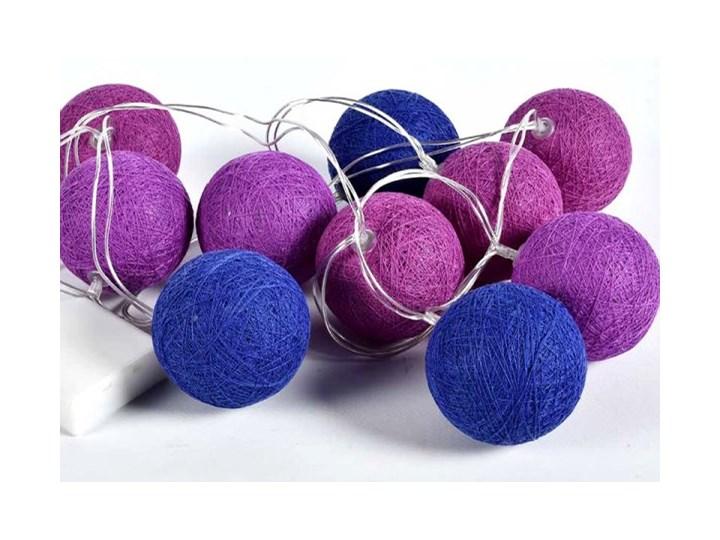 Lampki Dekoracyjne Kule Cotton Balls 10 Kul Niebiesko Fioletowe