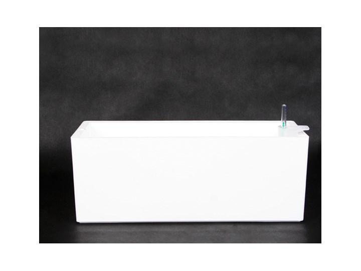 RIMINI 51x20/20 - biała Plastik Donica balkonowa Donica ogrodowa