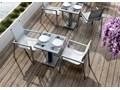 Krzesło ogrodowe ALICANTE Tworzywo sztuczne Aluminium