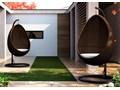 Huśtawka ogrodowa KOKON Tworzywo sztuczne Metal Wiszące ogrodowe