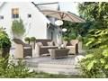 Meble ogrodowe LEONARDO royal piaskowe Zestawy wypoczynkowe Aluminium Rattan Technorattan Tworzywo sztuczne Zawartość zestawu Fotele