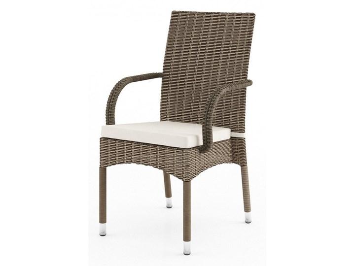 Meble ogrodowe RAPALLO 160cm royal białe Stoły z krzesłami Rattan Tworzywo sztuczne Technorattan Aluminium Styl Skandynawski