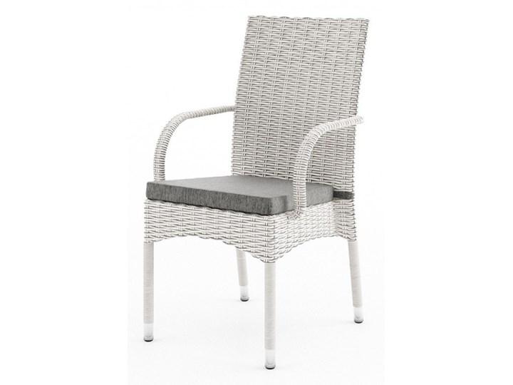 Meble ogrodowe RAPALLO 160cm royal białe Tworzywo sztuczne Technorattan Rattan Aluminium Stoły z krzesłami Zawartość zestawu Krzesła
