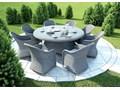 Meble ogrodowe RONDO ø180 Royal Rattan Technorattan Tworzywo sztuczne metal Zestawy wypoczynkowe tkanina Aluminium Zawartość zestawu Stół