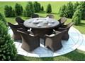 Meble ogrodowe RONDO ø180 royal piaskowe Tworzywo sztuczne Rattan Zawartość zestawu Stół Aluminium Technorattan Zawartość zestawu Fotele