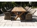 Meble ogrodowe LYON II Rattan Stoły z krzesłami Styl Minimalistyczny Zawartość zestawu Fotele