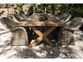 Meble ogrodowe LYON VIII Stoły z krzesłami Rattan Styl Nowoczesny