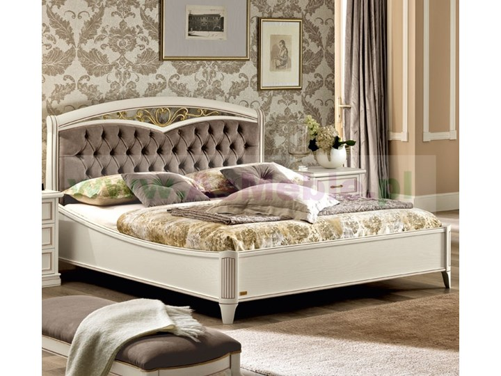 łóżko Z Tapicerowane Nostalgia Bianco Z Ringiem 160x200 Włoskie Meble Stylowe