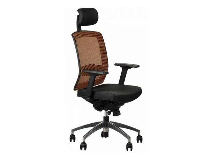 Fotel GN 301 pomarańcz podstawa aluminiowa Stema