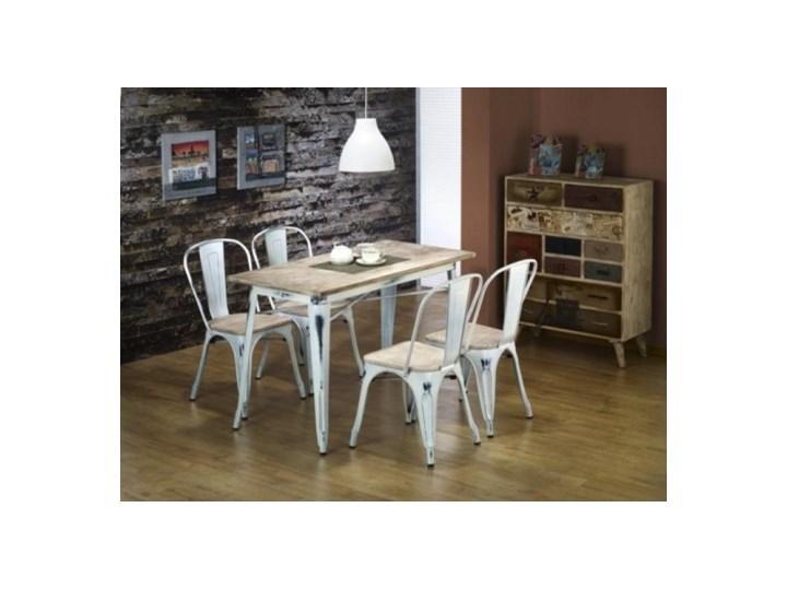 Zestaw Stół Magnum Prostokąt Retro Biały 4 Krzesła K204 Retro Białe Halmar