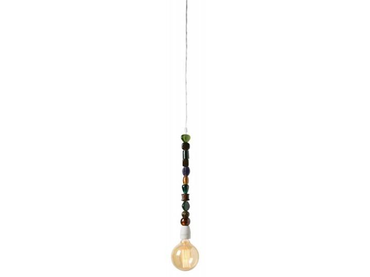 DEKORACYJNA OPRAWKA Z KABLEM KLARA ZIELONA Szkło Lampa inspirowana Styl Industrialny
