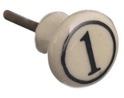 Gałka ceramiczna z cyfrą 1