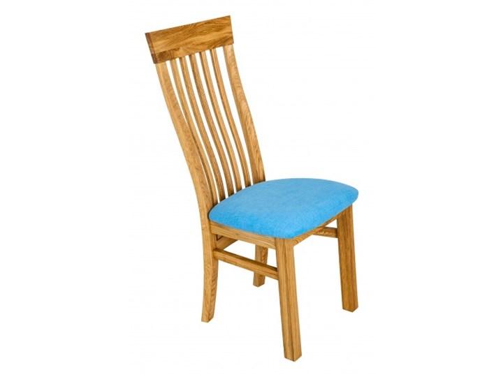 Signu Design Krzesło dębowe AVANT Drewno Skóra Tkanina Wysokość 2 44 cm