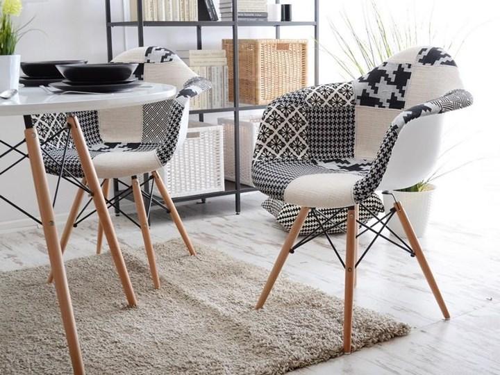 Krzeslo Tapicerowane Do Jadalni Mpa Wood Tap Patchwork 2 Krzesla
