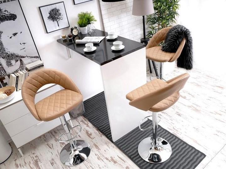 Pikowane Krzesło Barowe 44 Karmel