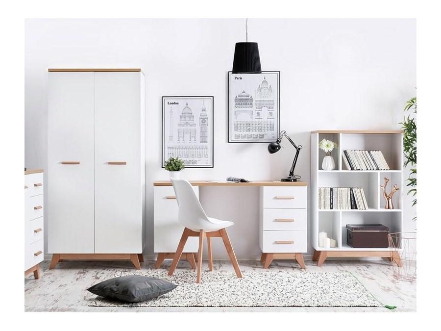 skandynawskie meble dla m�odzieży z biurkiem i szaf� bjorg