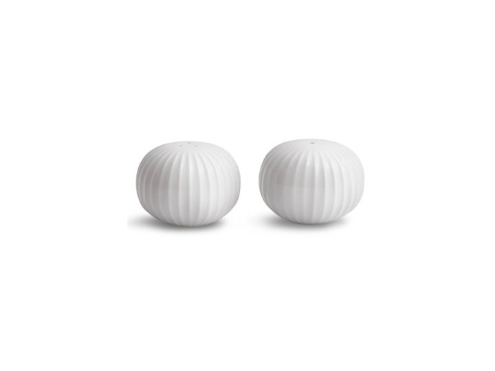 Zestaw białej solniczki i pieprzniczki z porcelany Kähler Design Hammershoi Solniczka i pieprzniczka Szkło Kolor Biały Ceramika Zestaw do przypraw Kategoria Przyprawniki