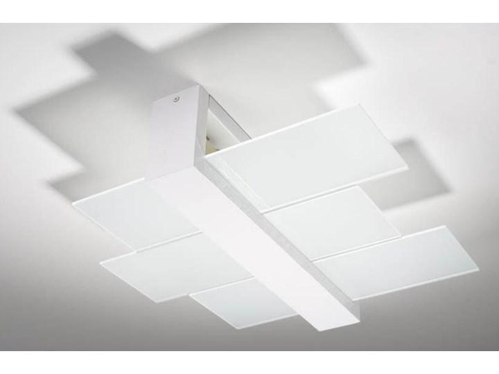 Lampa sufitowa / Plafon Sollux Lighting FENIKS 2 biały SL.0078 Drewno szkło Ilość źródeł światła 2 źródła