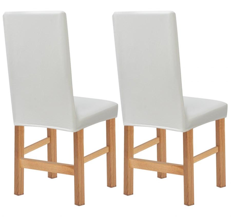 131977 vidaxl elastyczne pokrowce na krzes a zamsz syntetyczny 2 szt bia e pokrowce na. Black Bedroom Furniture Sets. Home Design Ideas