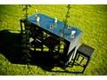Ekskluzywny zestaw barowy GENIALE Stoły z krzesłami ogrodowe Rattan Aluminium szkło wiklina Technorattan Zawartość zestawu Stół