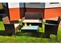Zestaw mebli ogrodowych COMODO wyprzedaż Tworzywo sztuczne wiklina Stal szkło Zestawy wypoczynkowe Technorattan ogrodowe tkanina Rattan Zawartość zestawu Sofa