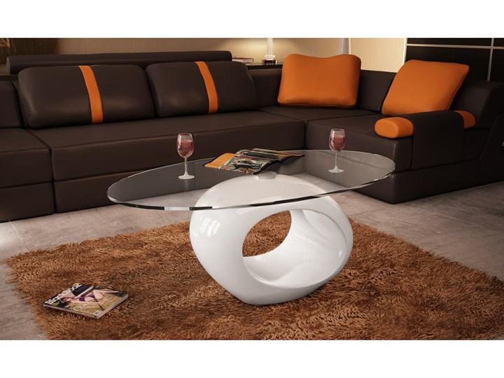 60749 Nowoczesny Stolik Do Kawy Z Białą Okrągłą Podstawą