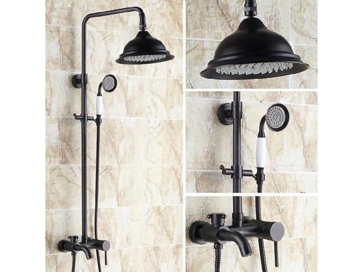 Czarny Mat Retro Zestaw Prysznicowy Zestawy Prysznicowe Zdjęcia