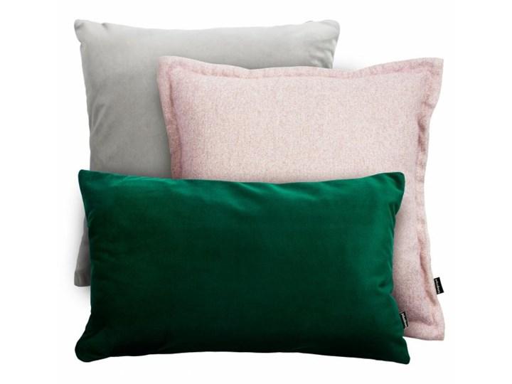Szaro-zielony zestaw poduszek Velvet + Tweed Prostokątne 45x45 cm Kwadratowe 30x50 cm tkanina Wzór Jednolity Styl klasyczny