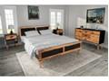 274613 vidaXL Meble do sypialni, 4 elementy, z drewna akacjowego, 180x200 cm