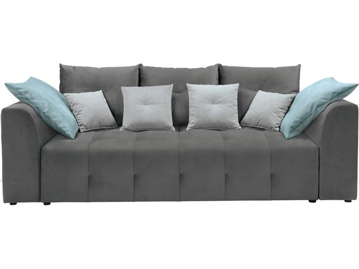 Sofa Kanapa Rozkładana Szara Royal Black Red White