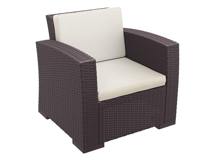 Wygodny Fotel Ogrodowy Technorattan Siesta Brązowy Fotele