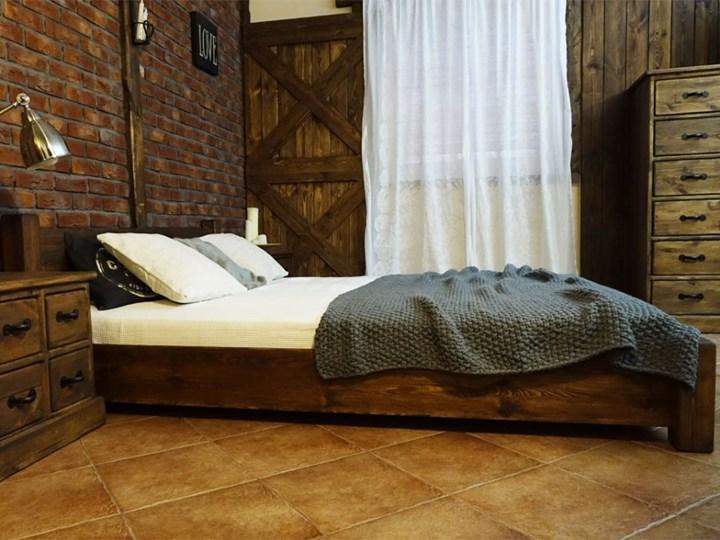 Łóżko Drewniane Sosnowe Rustyk / Ostrowit II 160 Kategoria Łóżka do sypialni Kolor Brązowy