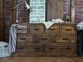Drewniana komoda sosnowa Rustyk 3/9 Szerokość 152 cm Z szufladami Drewno Głębokość 46 cm Wysokość 80 cm Styl Klasyczny