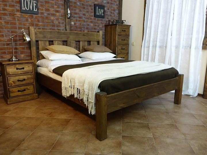 Łóżko Sosnowe Rustyk / Mieszko II 140 Łóżko drewniane Kategoria Łóżka do sypialni Rozmiar materaca 140x200 cm