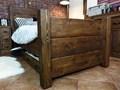Łóżko Sosnowe Rustyk / Dobromir 90 Styl rustykalny Łóżko drewniane drewno Rozmiar stelaża 90x200 cm