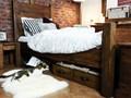 Łóżko Sosnowe Rustyk / Dobromir 160 Styl rustykalny drewno Łóżko drewniane Styl vintage