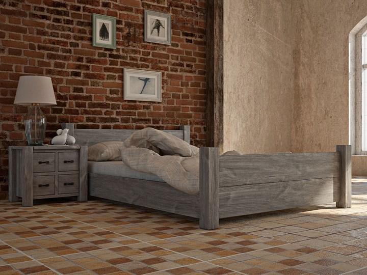Drewniane łóżko Country New 27 - 180 cm Rozmiar materaca 180x200 cm Łóżko drewniane Kolor Beżowy