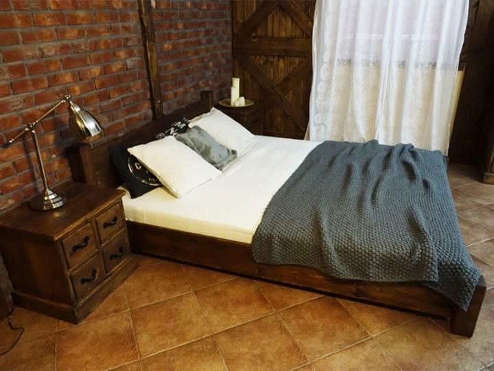 Łóżko Drewniane Sosnowe Rustyk / Ostrowit II 140 Kolor Brązowy Rozmiar materaca 140x200 cm