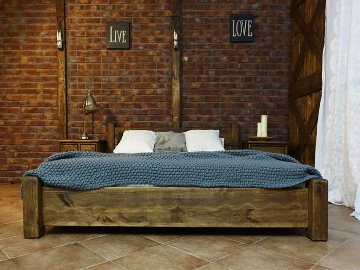 Łóżko Drewniane Sosnowe Rustyk / Ostrowit II 140 Kolor Brązowy Kategoria Łóżka do sypialni
