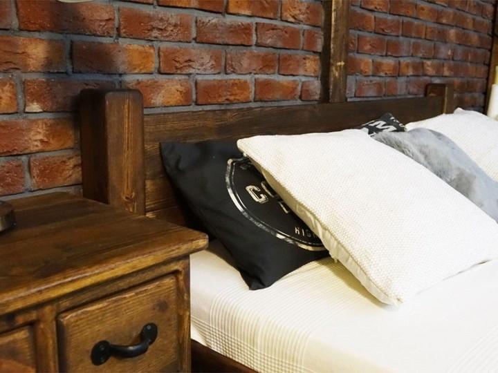 Łóżko Drewniane Sosnowe Rustyk / Ostrowit II 180 Rozmiar materaca 180x200 cm Kategoria Łóżka do sypialni