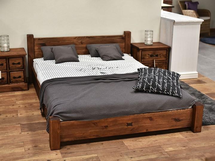Łóżko Sosnowe Rustyk / Ostrowit II 180 Łóżko drewniane drewno Styl nowoczesny