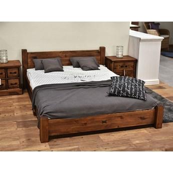 Łóżko Drewniane Sosnowe Rustyk / Ostrowit II 140